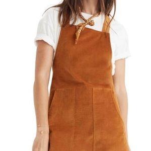 Madewell Velvet Overall Dress